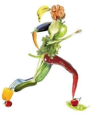 Fotomural gesunde Ernährung und sport