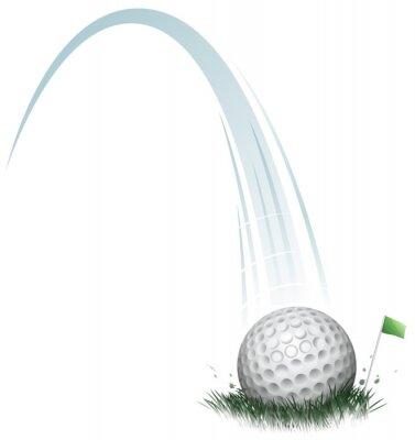 Fotomural golf ball action