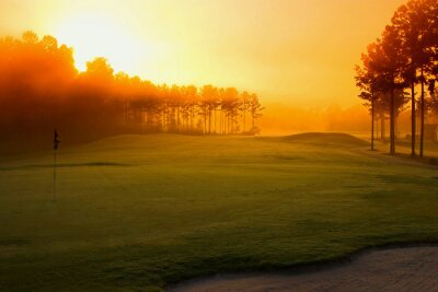 Fotomural golf course at dawn
