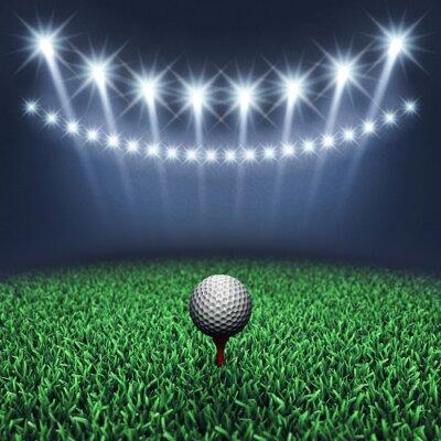 Fotomural Golfe na grama e holofotes, Torneio de golfe, Campo de golfe