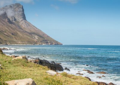 Fotomural Gordon's Bay África do Sul estrada de montanha costeira