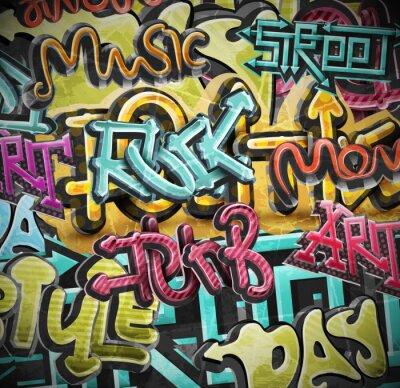 Fotomural Graffiti fundo grunge