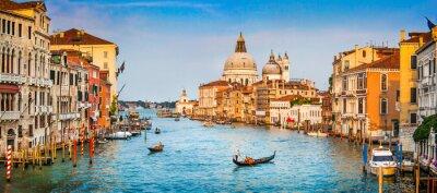 Fotomural Grand Canal panorama ao pôr do sol, Veneza, Itália