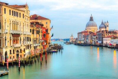 Fotomural Grande Canal e Basílica Santa Maria della Salute, Veneza, Itália
