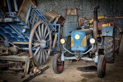 Fotomural granja et tracteur