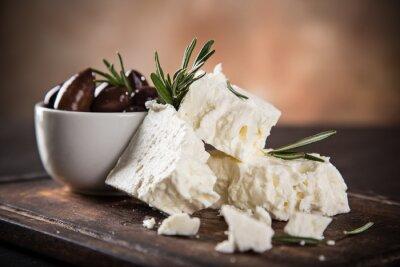 Fotomural Greek cheese feta