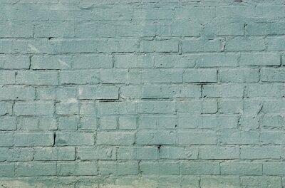 Fotomural Grunge parede de tijolo fundo com cor azul