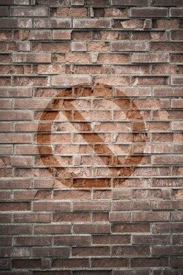 Fotomural Grungy, urbano, parede, proibido, sinal
