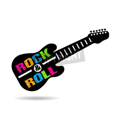 Fotomural Guitarra do rock and roll