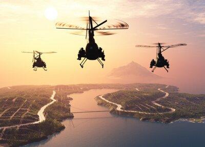 Fotomural Helicóptero militar