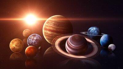 Fotomural Hight qualidade isolado planetas do sistema solar. Elementos desta imagem fornecidos pela NASA