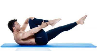 Fotomural Homem, aptidão, pilates, exercices, isolado