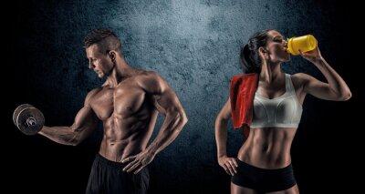 Fotomural Homem e mulher Athletic