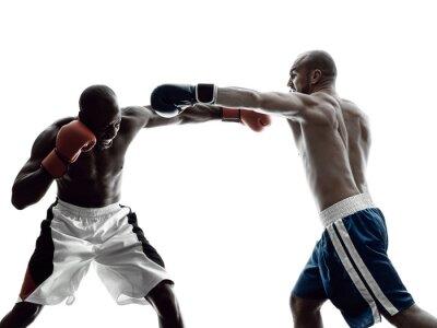 Fotomural Homens, boxers, boxe, isolado, silueta