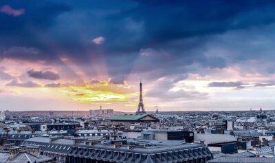 Fotomural Horizonte de Paris. Arquitetônico, cidade, detalhe