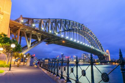 Fotomural Horizonte noite maravilhosa de Sydney, na Austrália