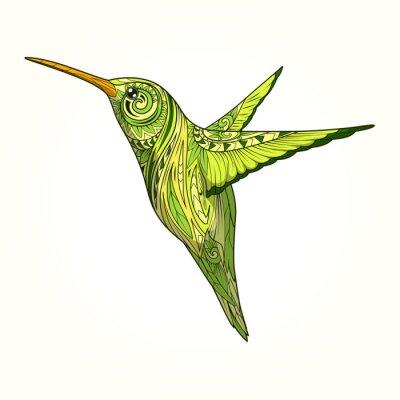 Fotomural Hummingbird, abstratos, Ornamento, vetorial