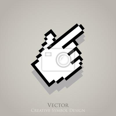 Fotomural Ícone do vetor ponteiro cursor Web. Clique símbolo internet