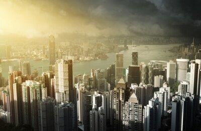 Fotomural Ilha de Hong Kong do pico de Victoria