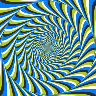 Fotomural ilusão de ótica redemoinho CCW