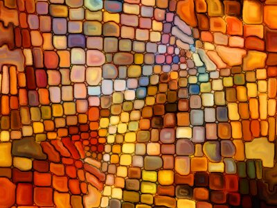Fotomural Ilusão de vitral