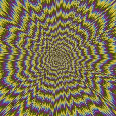 Fotomural Ilustração colorida abstrata do teste padrão brilhante hipnótico