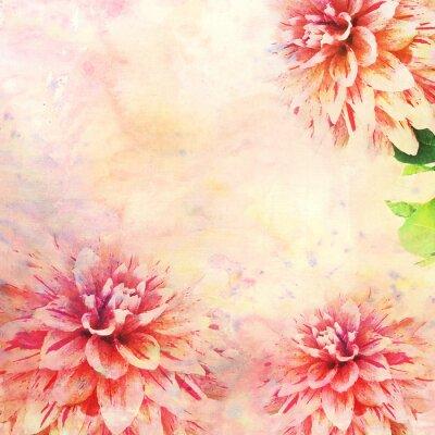 Fotomural Ilustração da aguarela do tema floral
