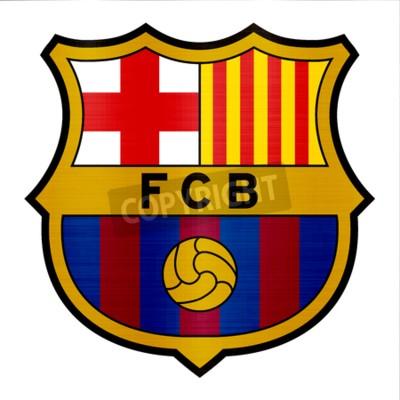 Fotomural ilustração de logotipo metálico de barcelona