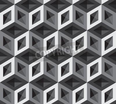 Fotomural Ilustração de padrão de cubos 3d. Fundo e pano de fundo.