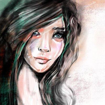 Fotomural Ilustração de retrato