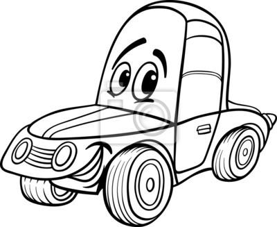 Ilustracao Do Carro Dos Desenhos Animados Para Livro De Colorir