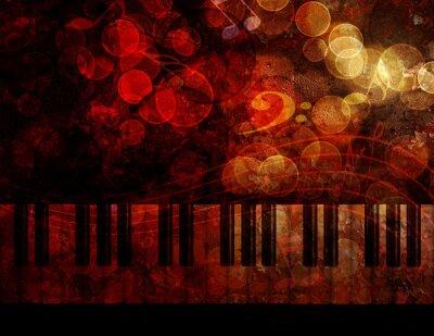 Fotomural Ilustração do fundo do grunge do teclado de piano