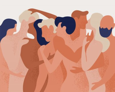 Fotomural Ilustração em vetor colorido em estilo cartoon plana