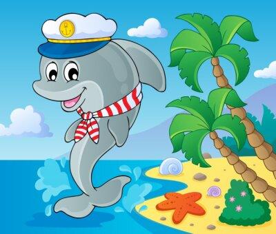 Fotomural Imagem com tema golfinho 3