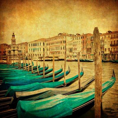 Fotomural Imagem do vintage do Grande Canal, em Veneza