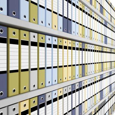 Fotomural Imagem fina 3d do fundo pasta de arquivo