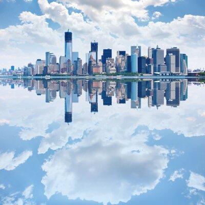 Fotomural Imagem panorâmica de menor horizonte de Manhattan