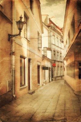 Fotomural Imagem retro do estilo de rua velho europeu