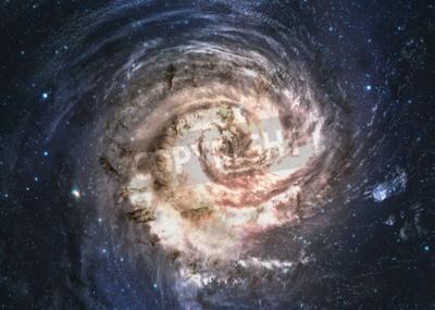 Fotomural Incrivelmente bela galáxia espiral em algum lugar no espaço profundo.