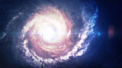 Fotomural Incrivelmente bela galáxia espiral em algum lugar no espaço profundo. Elementos desta imagem fornecidos pela NASA