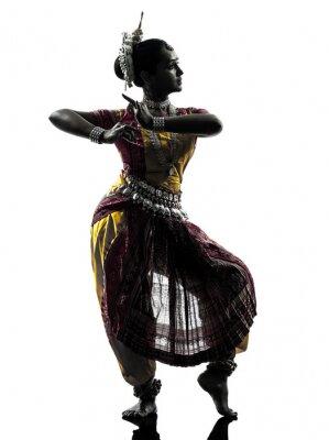 Fotomural indiano silhueta dança mulher do dançarino