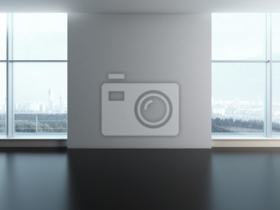 Fotomural Indicadores do escritório com parede em branco