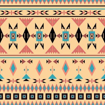 Fotomural Índios, seamless, Padrão, vetorial, Ilustração