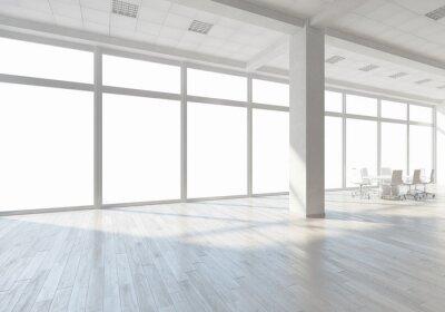 Fotomural Interior branco do escritório