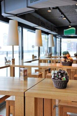 Fotomural Interior de um moderno café