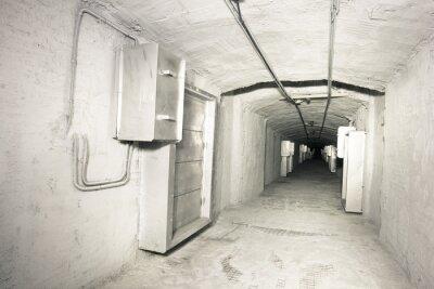 Fotomural Interior industrial do túnel do sistema do vantilation