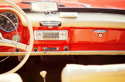Fotomural interno automóvel do vintage