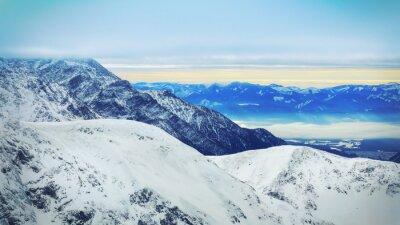 Fotomural Inverno, paisagem, alto, nevado, montanhas
