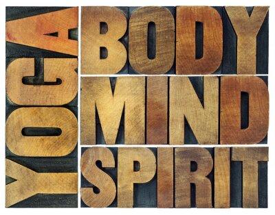Fotomural Ioga, corpo, mente, alma e espírito