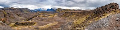 Fotomural Islândia Landmannalaugar caminhada paisagem selvagem